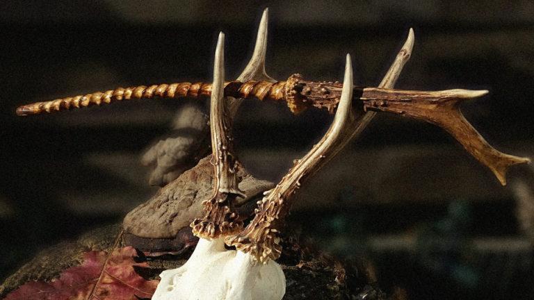 #00009 Staghorn wand -Kixov